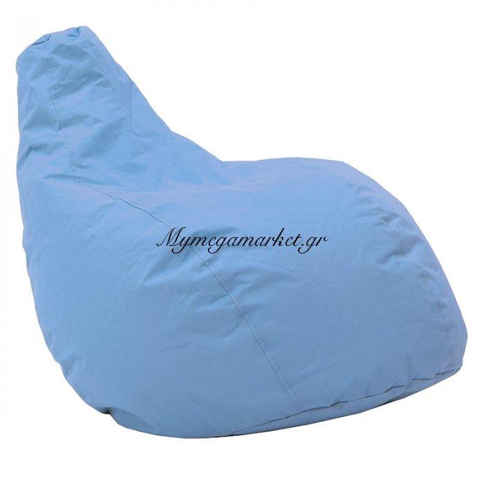 Πουφ πολυθρόνα Basic υφασμάτινο αδιάβροχο τιρκουάζ | Mymegamarket.gr