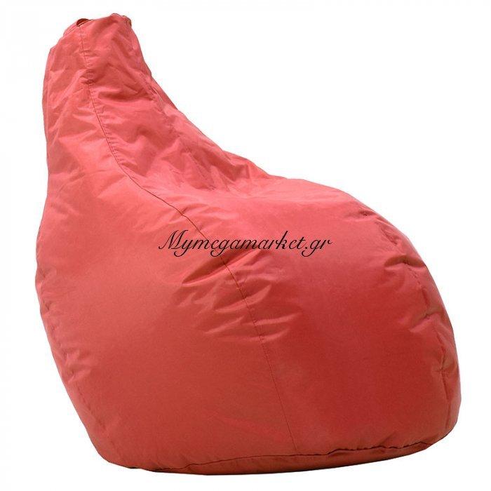 Πουφ πολυθρόνα Eco επαγγελματικό 100% αδιάβροχο κόκκινο | Mymegamarket.gr