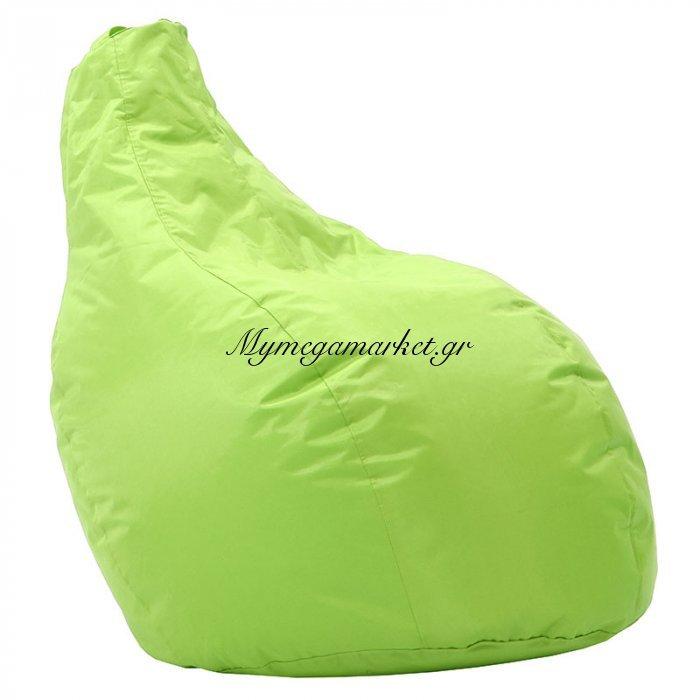 Πουφ πολυθρόνα Eco επαγγελματικό 100% αδιάβροχο πράσινο | Mymegamarket.gr