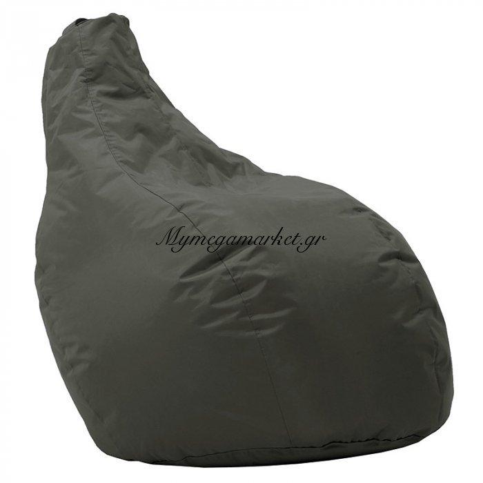 Πουφ πολυθρόνα Eco επαγγελματικό 100% αδιάβροχο σκούρο πράσινο | Mymegamarket.gr