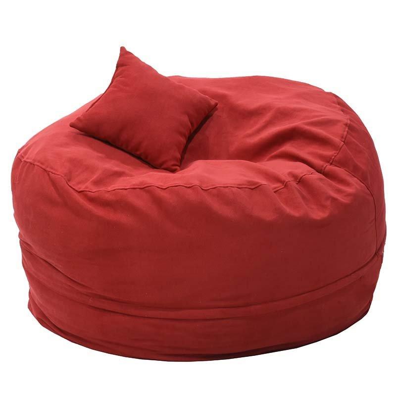Πουφ Puko υφασμάτινο κόκκινο Φ95