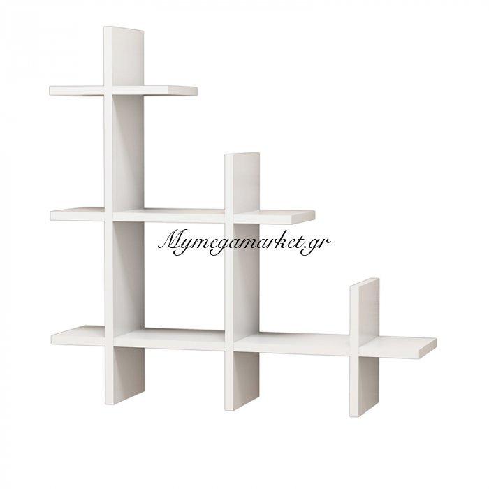 Ραφιέρα τοίχου 3 Gen Wall λευκή 80x18x80 | Mymegamarket.gr
