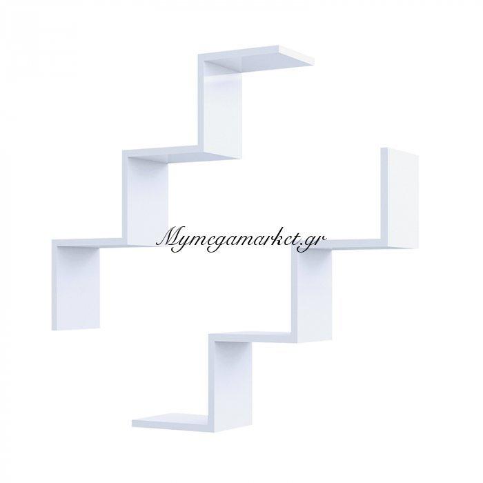 Ραφιέρα τοίχου Iris λευκή με 2 ράφια 71,4x19,5x71,4 | Mymegamarket.gr