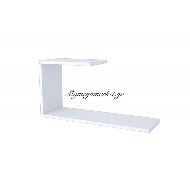 Ραφιέρα τοίχου J λευκή 60x20x27
