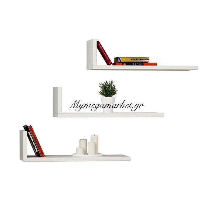 Ραφιέρα τοίχου L-Model χρώμα λευκό 40x20x14εκ | Mymegamarket.gr