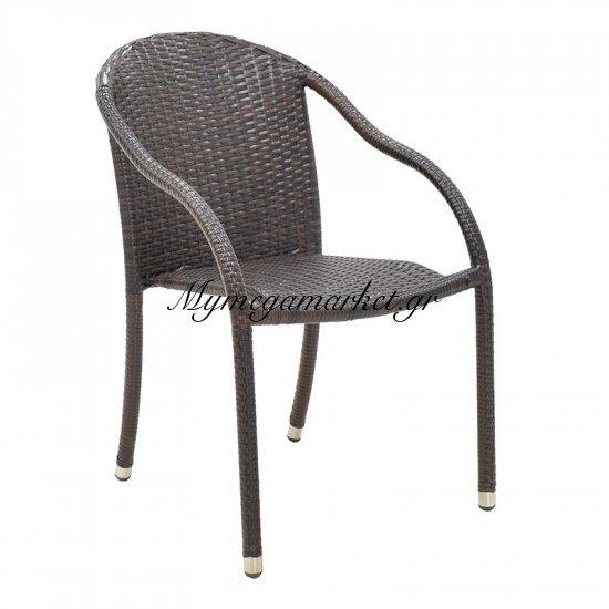 Σετ τραπεζαρία κήπου 7τμχ S-51 αλουμινίου χρώμα cappuccino με πλέξη wicker 160x90x74εκ Στην κατηγορία Τραπεζαρίες κήπου με καρέκλες | Mymegamarket.gr