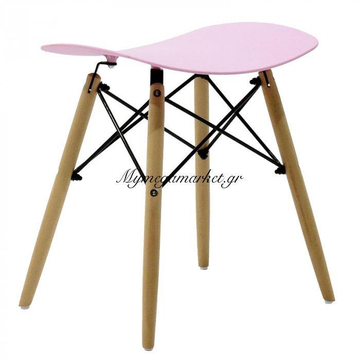 Σκαμπώ Julita πολυπροπυλένιου χρώμα ροζ | Mymegamarket.gr
