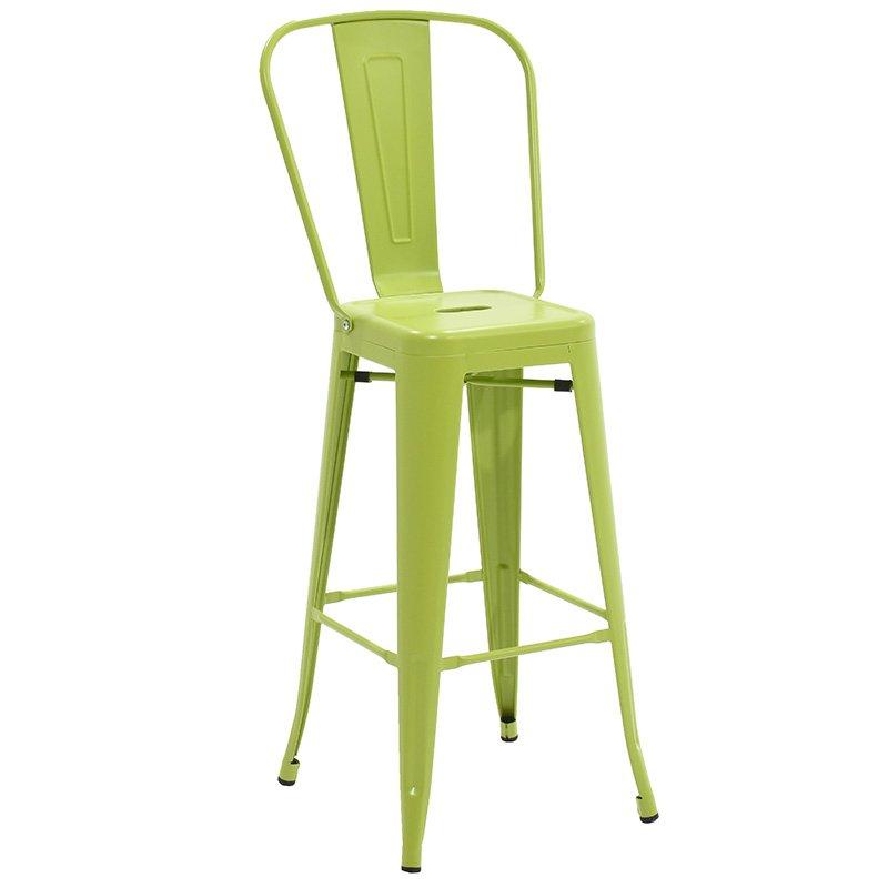 Σκαμπώ μπαρ Utopia με πλάτη μεταλλικό χρώμα πράσινο