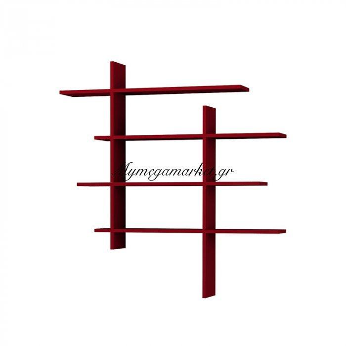 Σύνθεση ραφιών Cizgi No 1 χρώμα σκούρο κόκκινο 120x20x125εκ | Mymegamarket.gr