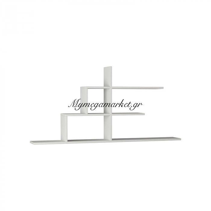 Σύνθεση ραφιών Cizgi No 2 χρώμα λευκό 150x20x72,5εκ | Mymegamarket.gr