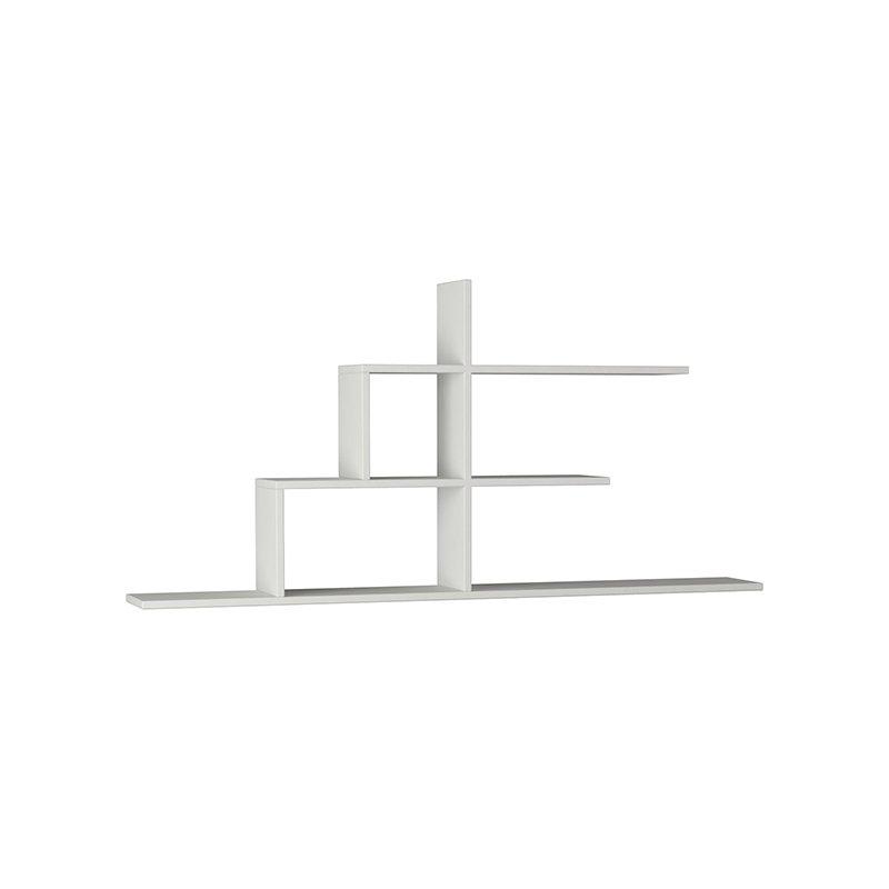 Σύνθεση ραφιών Cizgi No 2 χρώμα λευκό 150x20x72,5εκ