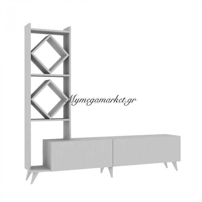 Σύνθεση σαλονιού Deco χρώμα λευκό 180x31x163 | Mymegamarket.gr