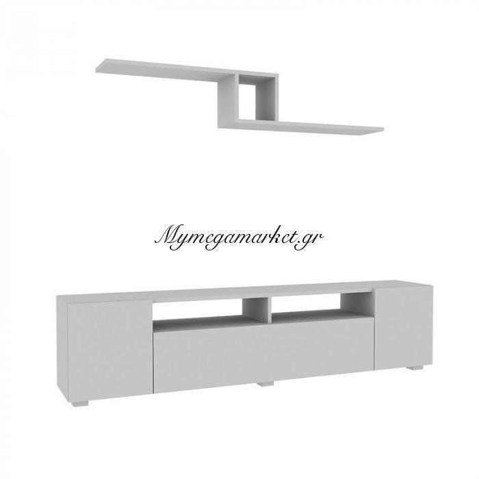 Σύνθεση σαλονιού Loft χρώμα λευκό 180x31x43 | Mymegamarket.gr