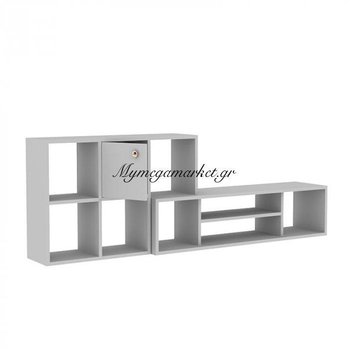 Σύνθεση σαλονιού Moreen χρώμα λευκό 180x30x62,5 | Mymegamarket.gr