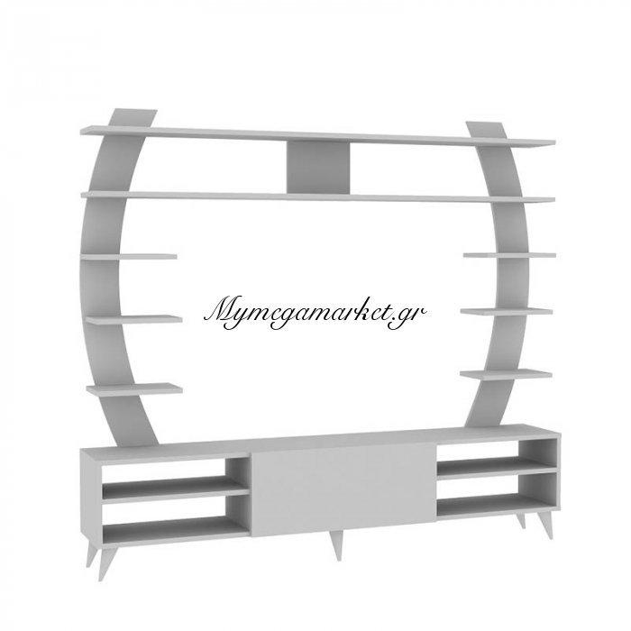 Σύνθεση σαλονιού Paris χρώμα λευκό 180x31x162 | Mymegamarket.gr