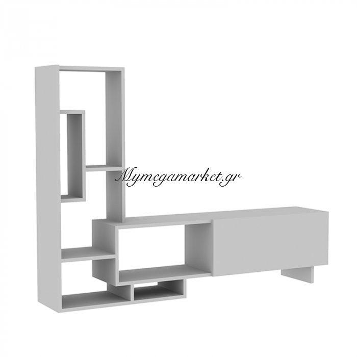 Σύνθεση σαλονιού Pegai χρώμα λευκό 160x29,5x120εκ | Mymegamarket.gr