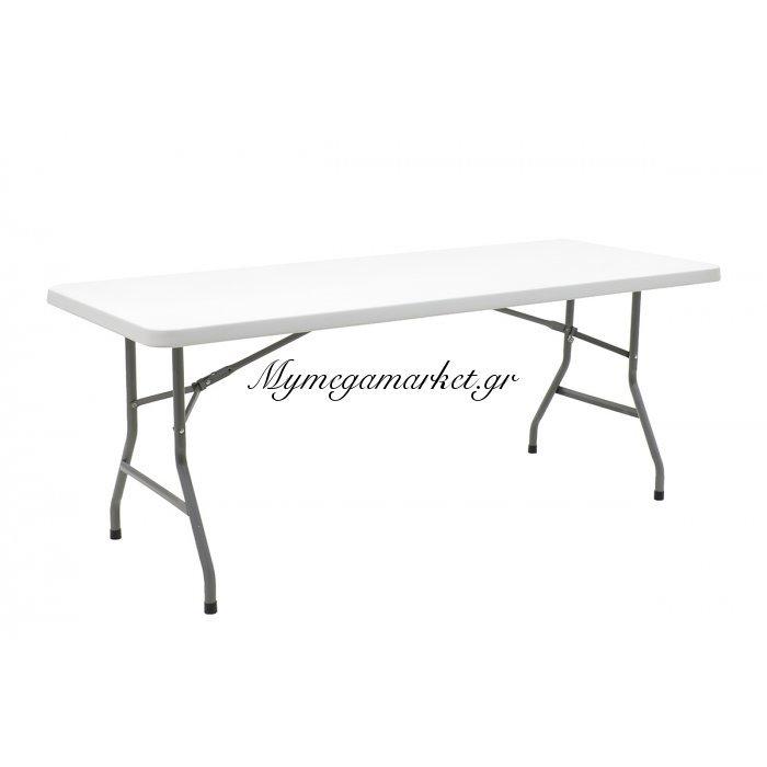 Τραπέζι catering-συνεδρίου APRILIA μονοκόμματη ορθογώνια επιφάνεια 183x76x74εκ χρώματος γκρι | Mymegamarket.gr