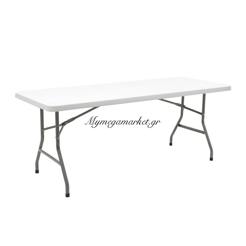 Τραπέζι catering-συνεδρίου APRILIA μονοκόμματη ορθογώνια επιφάνεια 183x76x74εκ χρώματος γκρι