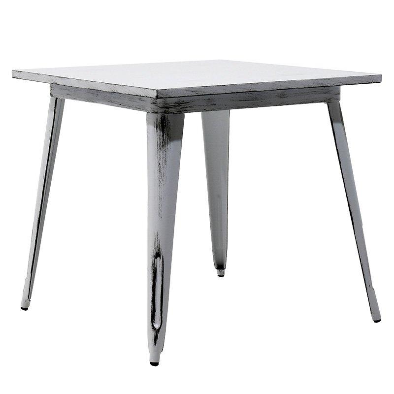 Τραπέζι μεταλλικό Utopia χρώμα anti-white 80x80x75,5