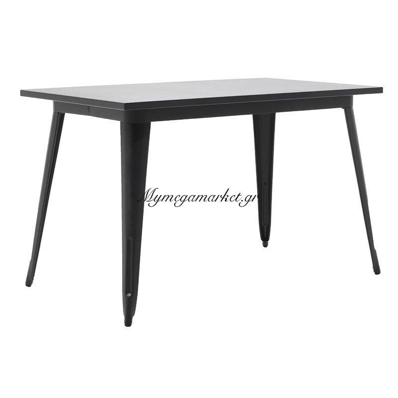 Τραπέζι μεταλλικό Utopia χρώμα μαύρο 120x70x75,5