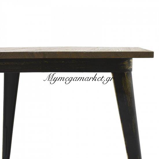 Τραπέζι μεταλλικό Utopia με ξύλινη επιφάνεια χρώμα anti-black 80x80x75,5 Στην κατηγορία Τραπέζια - Τραπεζαρίες | Mymegamarket.gr