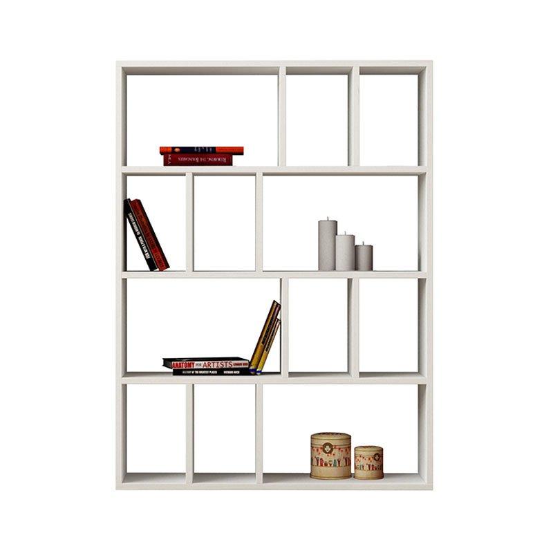Βιβλιοθήκη Donie χρώμα λευκό 90x25x121εκ
