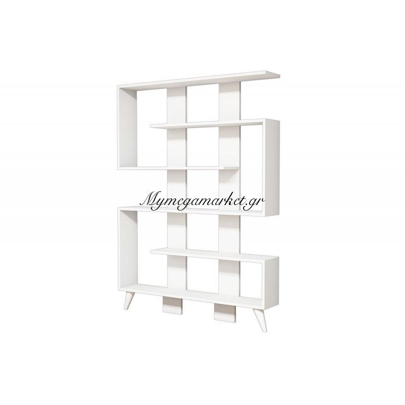 Βιβλιοθήκη Jane χρώμα λευκό 120x22x164