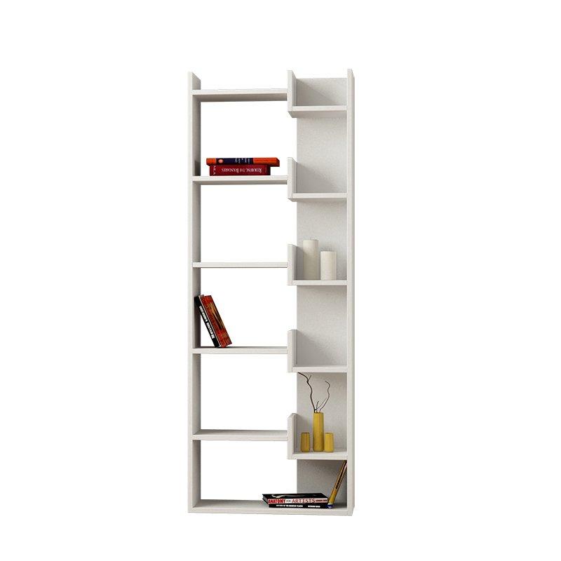 Βιβλιοθήκη Oppa χρώμα λευκό 63x22x163εκ