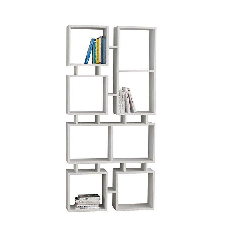 Βιβλιοθήκη Rail χρώμα λευκό 79x24x166εκ