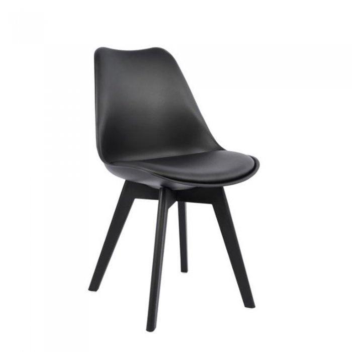 Σετ Τραπεζαρίας 5Τμχ. MY3450.18 (Τραπέζι Μεταλλικό Μαύρο Με Γυαλί 120x70 + Pocket Καρέκλα Μαύρη) | Mymegamarket.gr