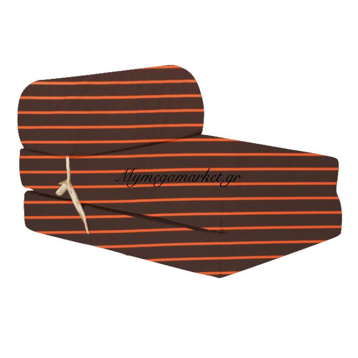 Πολυθρόνα - Κρεβάτι Flip Chair καφέ - Πορτοκαλί γραμμές Florina | Mymegamarket.gr
