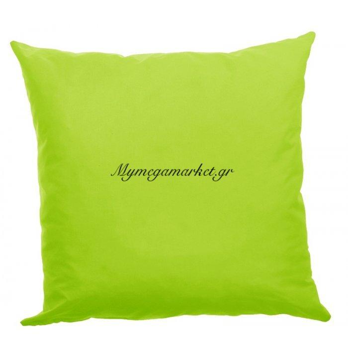 Μαξιλάρι καναπέ πολυεστέρας κρετόν ύφασμα λαχανί 45 x 45 cm | Mymegamarket.gr