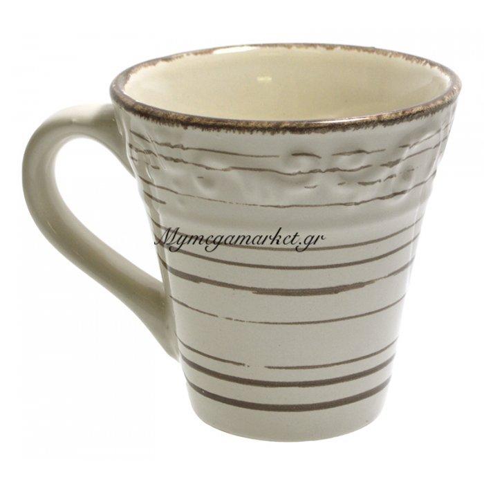Κούπα stoneware 390ml μπέζ-καφέ Nava | Mymegamarket.gr