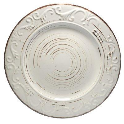 Πιάτο ρηχό stoneware μπέζ-καφέ Nava