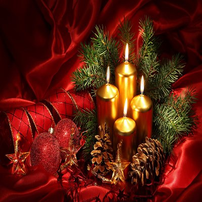 Κεριά Χριστουγεννιάτικα
