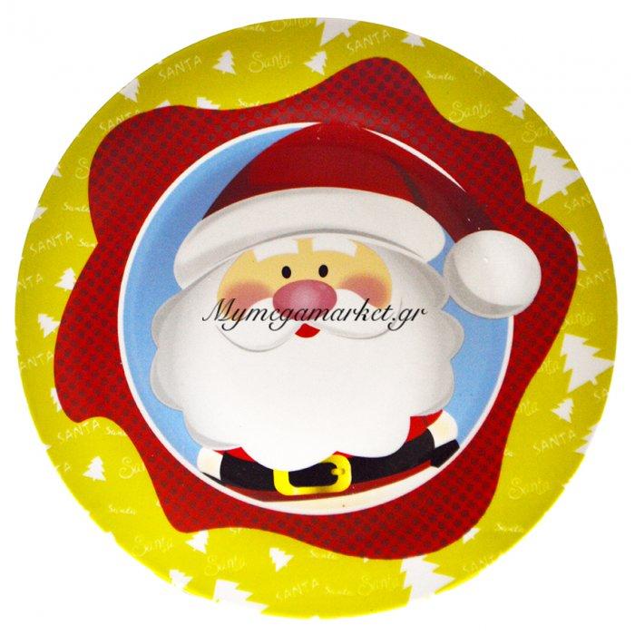 Πιατέλα χριστουγεννιάτικη πορσελάνινη με κεφάλιΆγιο Βασίλη | Mymegamarket.gr