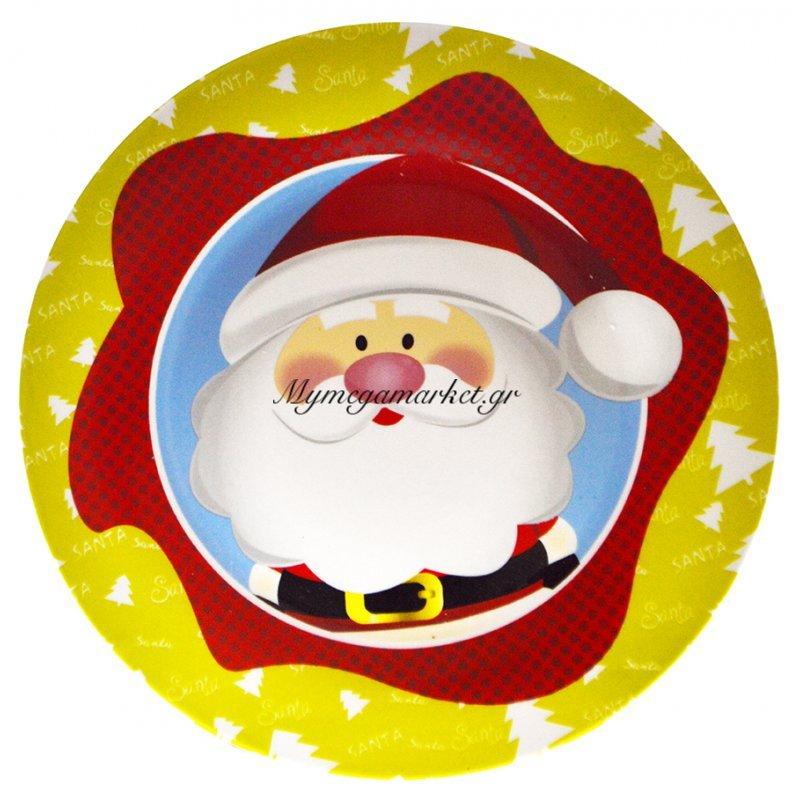Πιατέλα χριστουγεννιάτικη πορσελάνινη με κεφάλιΆγιο Βασίλη
