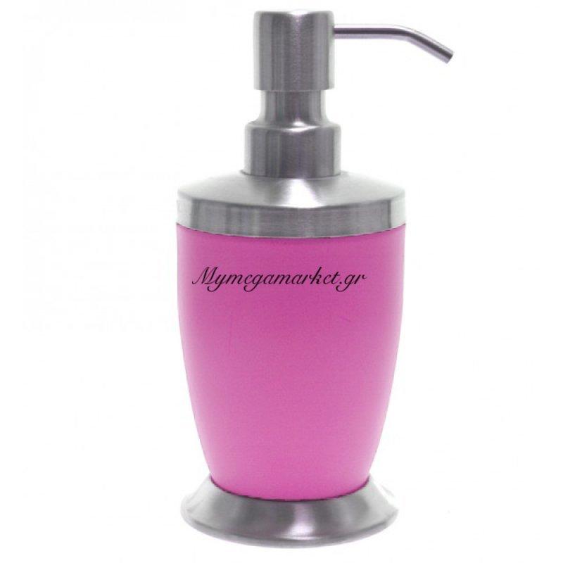 Αντλία κρεμοσάπουνου με ρόζ χρώμα & inox λεπτομέρειες