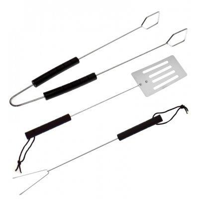 Εργαλεία Bbq σέτ 3 τεμαχίων με πλαστική λαβή