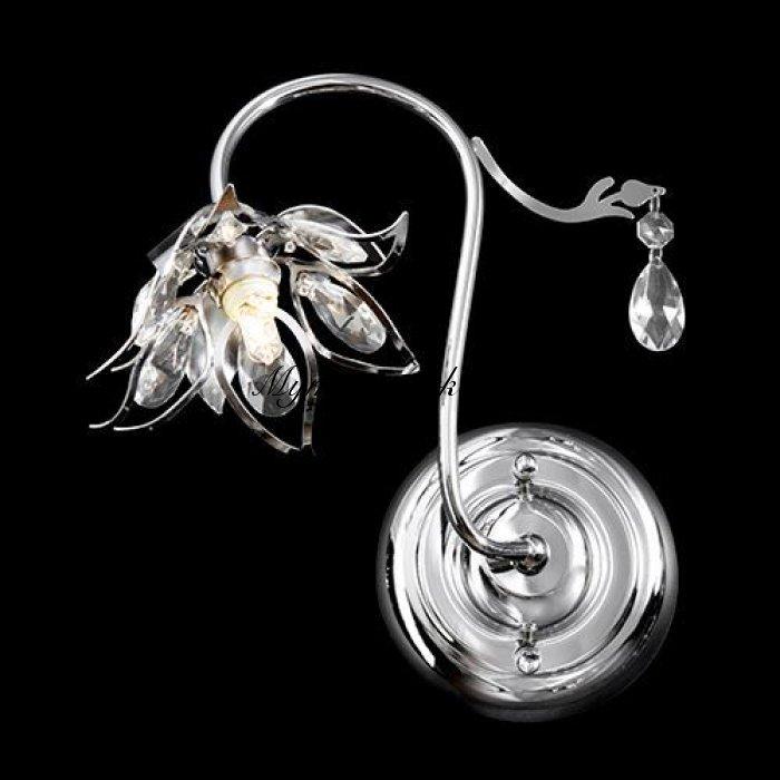 Απλίκα μονόφωτη κρύσταλλο λουλούδι - Nava | Mymegamarket.gr
