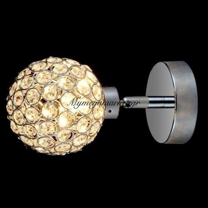Απλίκα μονόφωτη με κρύσταλλο μπάλα- Nava