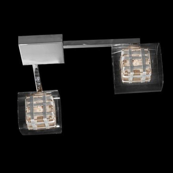 Φωτιστικό οροφής δίφωτο τετράγωνο γυαλί - χρώμιο - Nava | Mymegamarket.gr
