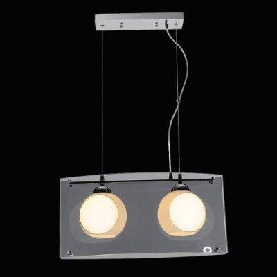 Φωτιστικό οροφής γκρί δίφωτο γυάλινο - Nava