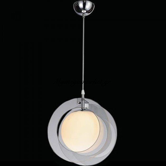 Φωτιστικό οροφής μονόφωτο γυάλινο γκρι - Nava | Mymegamarket.gr