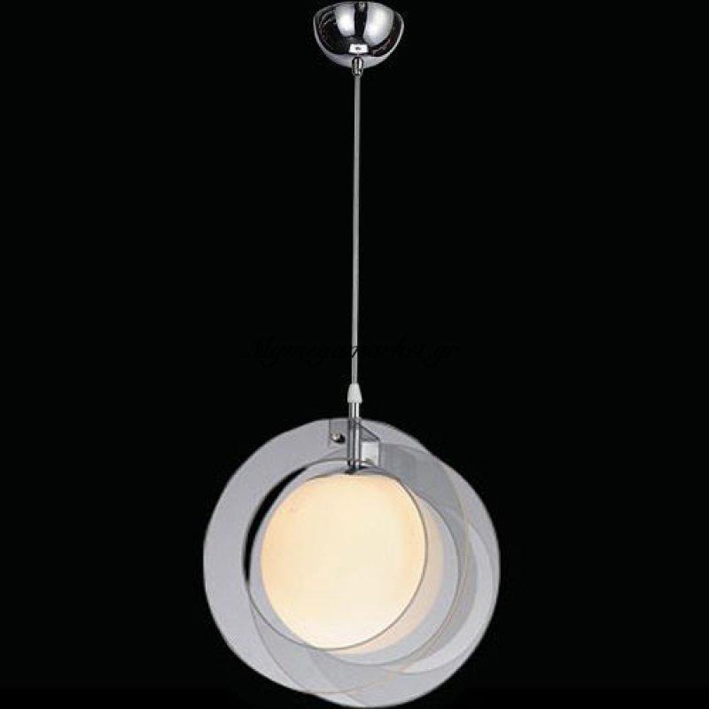 Φωτιστικό οροφής μονόφωτο γυάλινο γκρι - Nava
