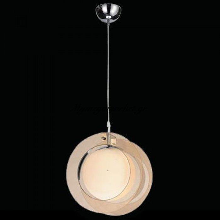 Φωτιστικό οροφής μονόφωτο γυάλινο μελί - Nava | Mymegamarket.gr