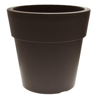 Γλάστρα Linea στρογγυλή χρώμα καφέ-μπρονζέ 2 λίτρων