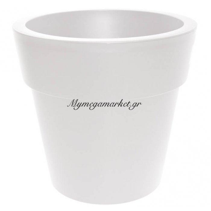 Γλάστρα στρογγυλή Linea χρώμα λευκό 30 λίτρων | Mymegamarket.gr