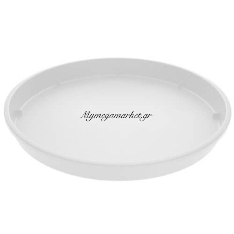 Πιάτο γλάστρας Linea χρώμα λευκό σε 4 διαστάσεις