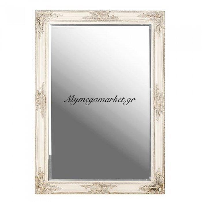 Ορθογώνιος ξύλινος καθρέφτης τοίχου πατίνα - Nava | Mymegamarket.gr